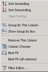Sorting Columns
