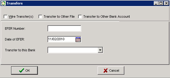 Transferring to Other Bank Account